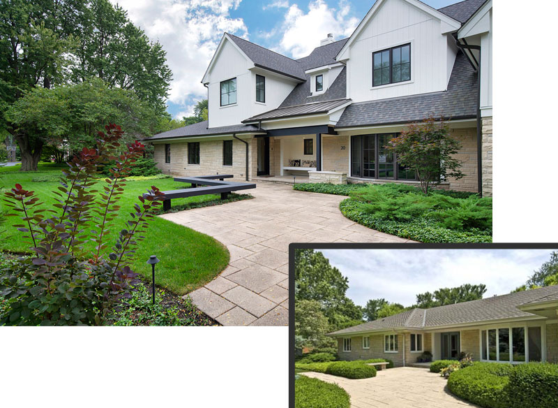 ReFresh2Sell home renovation exterior front view of the home meadowview chicago illinois before and after