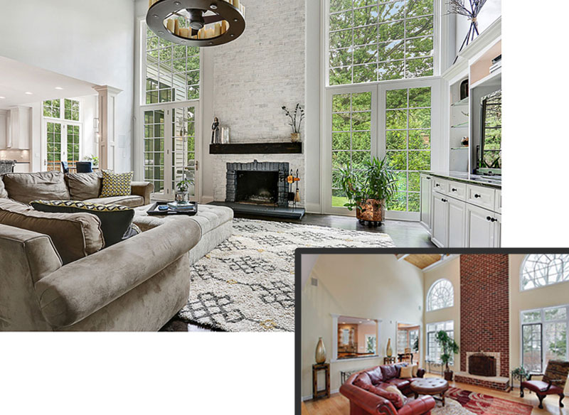 ReFresh2Sell home renovation living room meadowview chicago illinois before and after